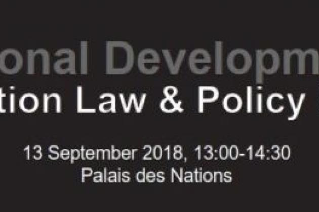 Regional Developments in Abortion Law & Policy Reform, 13 September 2018, 13:00-14:30, Palais des Nations