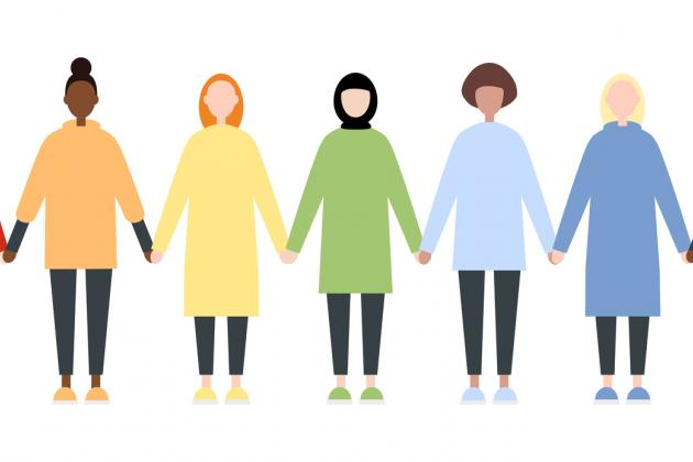 Diverse Women Holding Hands