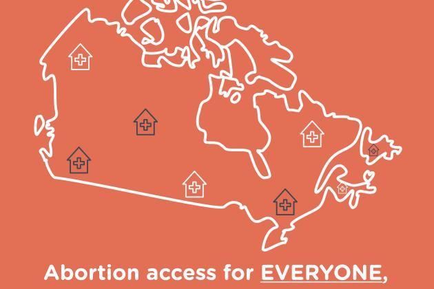 Map of abortion access in Canada