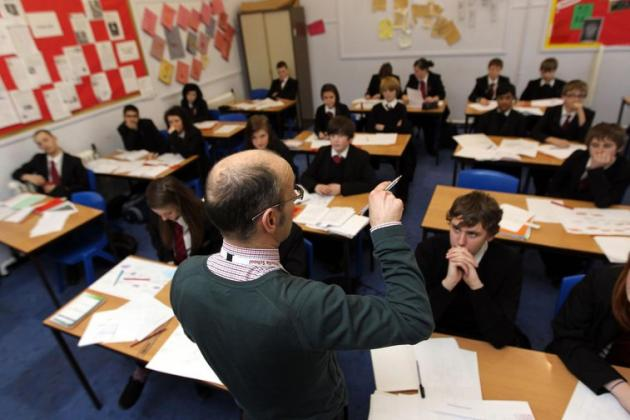 Students in a UK classroom. The new relationships and sex education curriculum becomes compulsory from next year. | Photo: David Davies/PA Wire/PA Images. All rights reserved.
