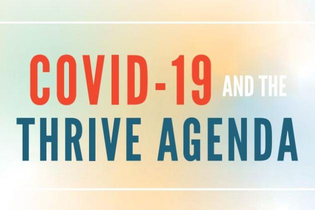 COVID-19 and the THRIVE AGENDA (in orange and blue)